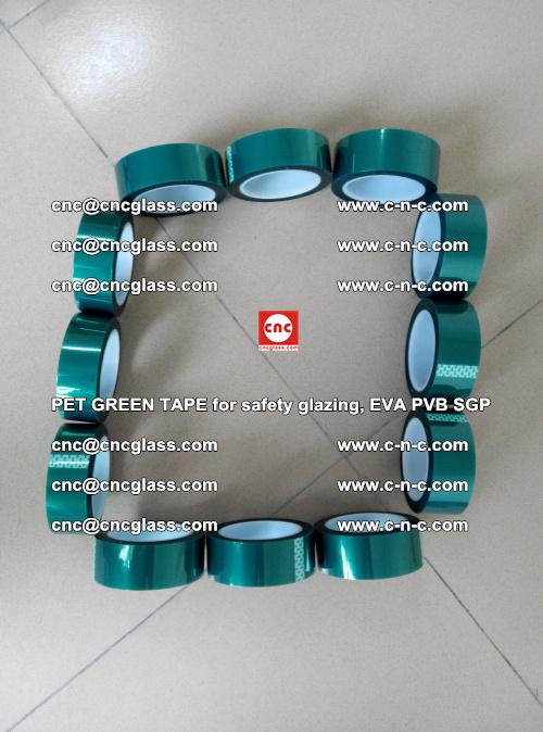 PET GREEN TAPE for safety glazing, EVA PVB SGP (48)