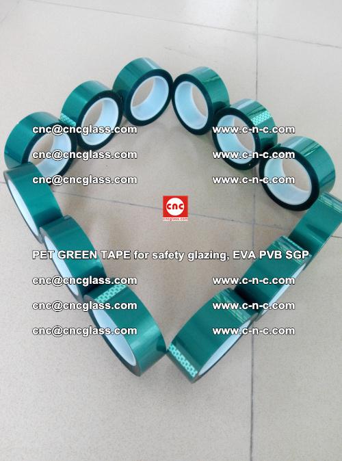 PET GREEN TAPE for safety glazing, EVA PVB SGP (50)