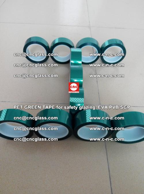 PET GREEN TAPE for safety glazing, EVA PVB SGP (55)