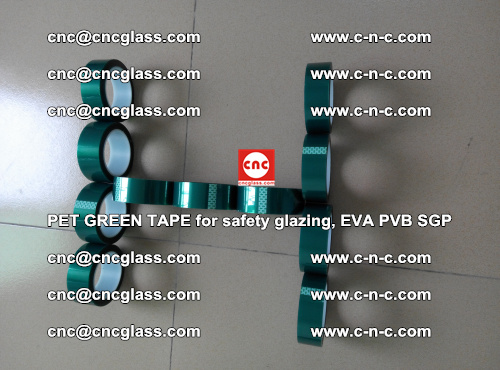 PET GREEN TAPE for safety glazing, EVA PVB SGP (59)