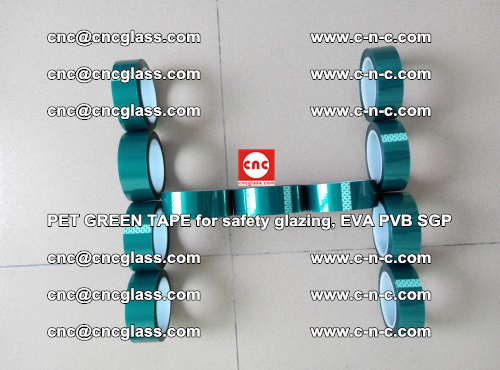 PET GREEN TAPE for safety glazing, EVA PVB SGP (61)
