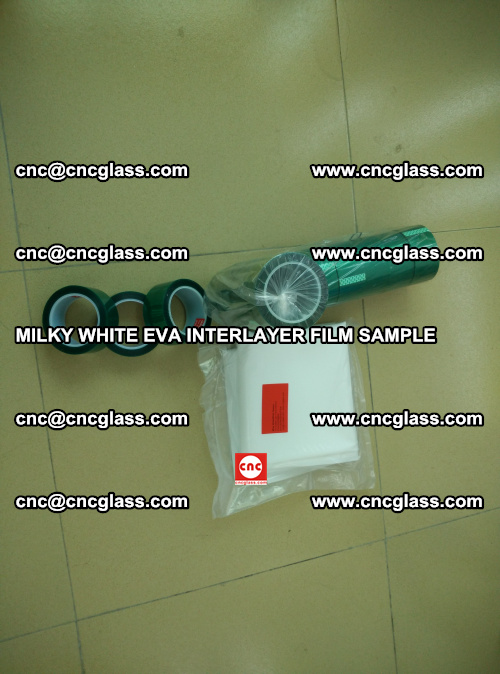 EVA FILM SAMPLE, MILKY WHITE, FOR SAFETY GLAZING, EVAVISION (11)