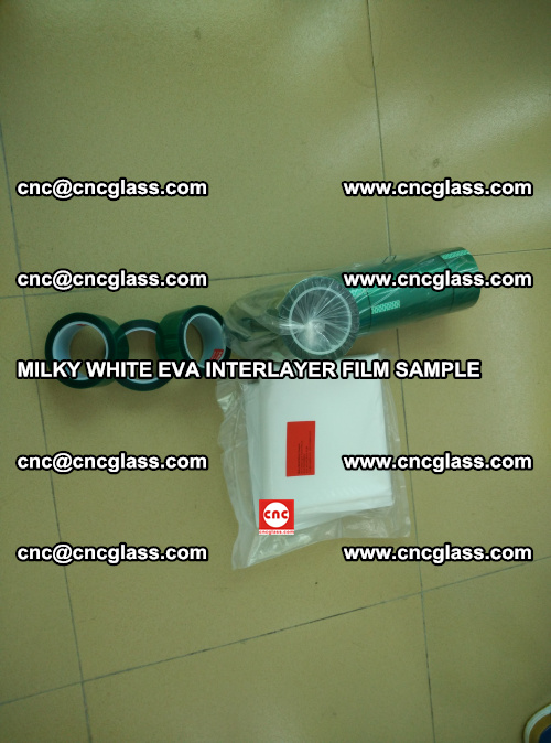 EVA FILM SAMPLE, MILKY WHITE, FOR SAFETY GLAZING, EVAVISION (12)