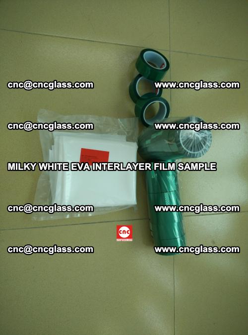 EVA FILM SAMPLE, MILKY WHITE, FOR SAFETY GLAZING, EVAVISION (3)