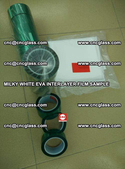 EVA FILM SAMPLE, MILKY WHITE, FOR SAFETY GLAZING, EVAVISION (46)