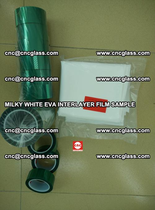 EVA FILM SAMPLE, MILKY WHITE, FOR SAFETY GLAZING, EVAVISION (48)