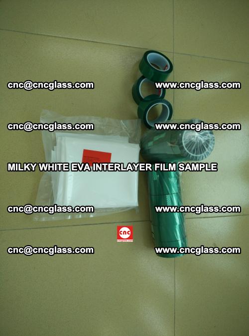 EVA FILM SAMPLE, MILKY WHITE, FOR SAFETY GLAZING, EVAVISION (5)