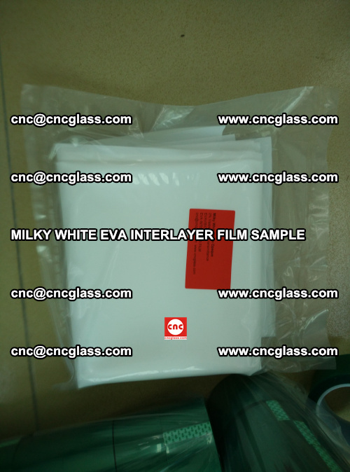 EVA FILM SAMPLE, MILKY WHITE, FOR SAFETY GLAZING, EVAVISION (56)