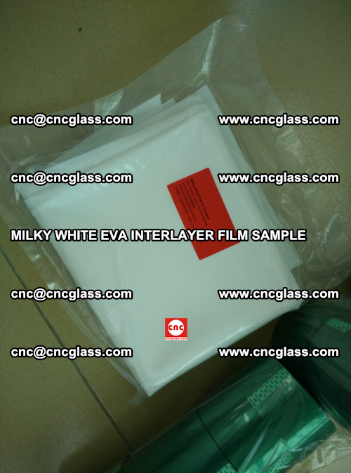 EVA FILM SAMPLE, MILKY WHITE, FOR SAFETY GLAZING, EVAVISION (64)