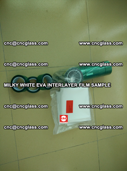 EVA FILM SAMPLE, MILKY WHITE, FOR SAFETY GLAZING, EVAVISION (9)