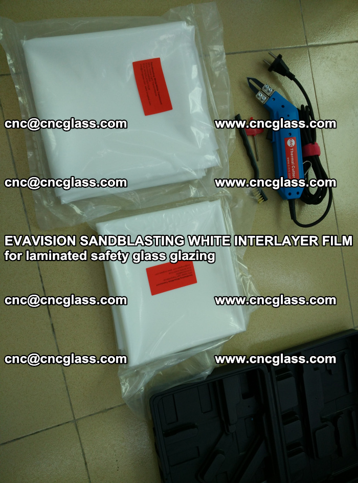 EVAVISION SANDBLASTING WHITE INTERLAYER FILM for laminated safety glass glazing (32)