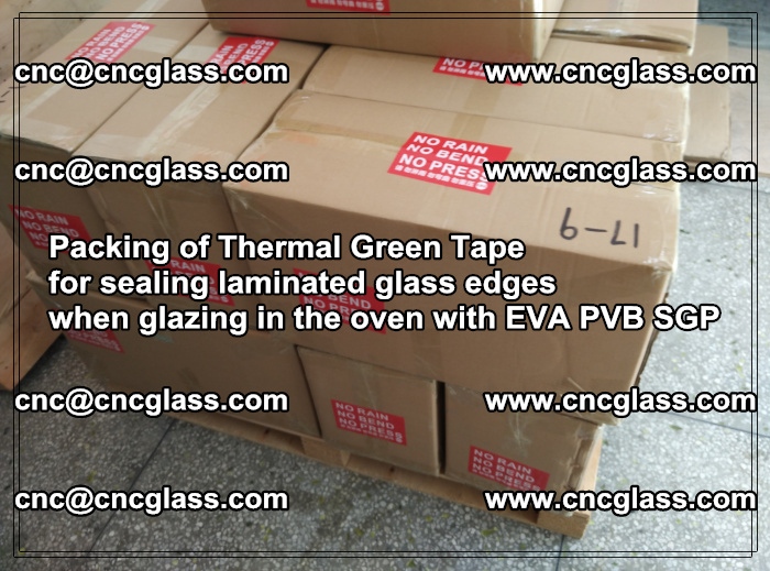 Packing of Thermal Green Tape for sealing laminated glass edges (10)