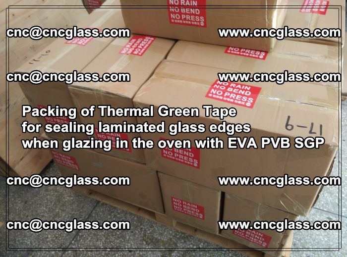 Packing of Thermal Green Tape for sealing laminated glass edges (11)