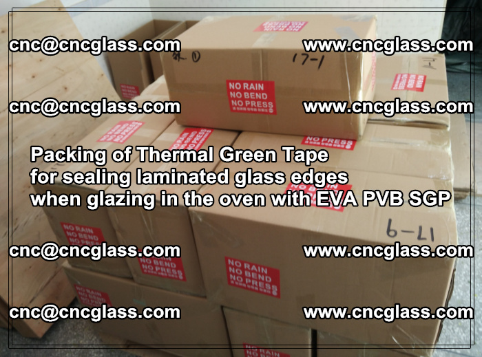 Packing of Thermal Green Tape for sealing laminated glass edges (19)