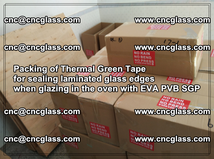 Packing of Thermal Green Tape for sealing laminated glass edges (22)