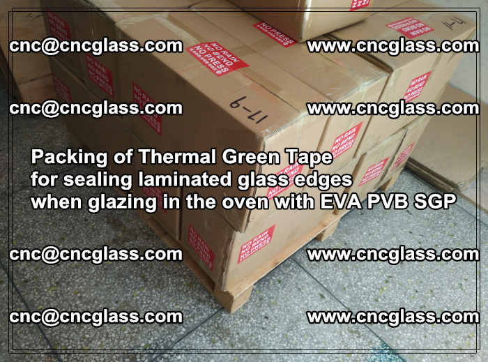 Packing of Thermal Green Tape for sealing laminated glass edges (25)