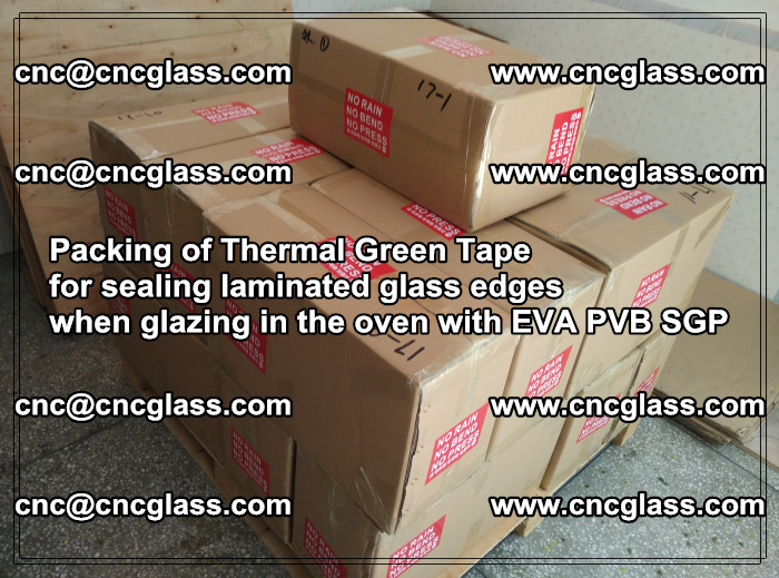 Packing of Thermal Green Tape for sealing laminated glass edges (29)