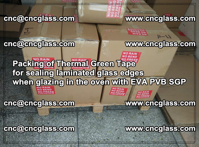 Packing of Thermal Green Tape for sealing laminated glass edges (40)