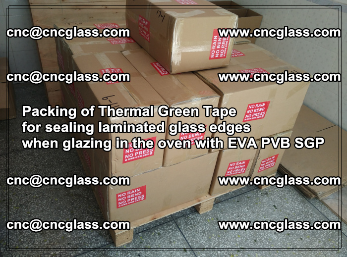 Packing of Thermal Green Tape for sealing laminated glass edges (44)