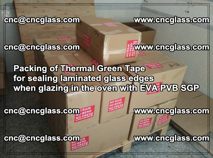 Packing of Thermal Green Tape for sealing laminated glass edges (46)