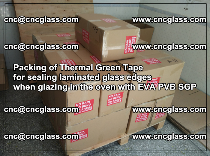 Packing of Thermal Green Tape for sealing laminated glass edges (48)