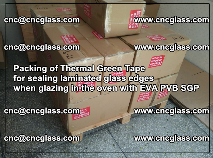 Packing of Thermal Green Tape for sealing laminated glass edges (50)