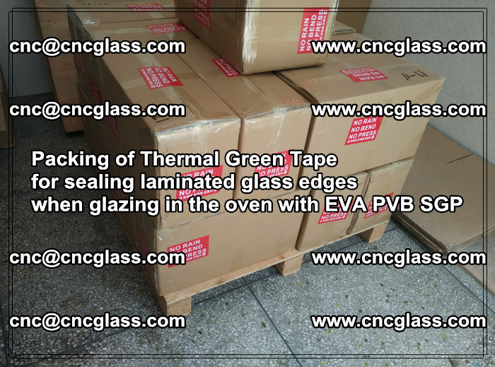 Packing of Thermal Green Tape for sealing laminated glass edges (51)
