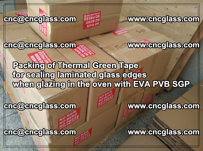 Packing of Thermal Green Tape for sealing laminated glass edges (58)