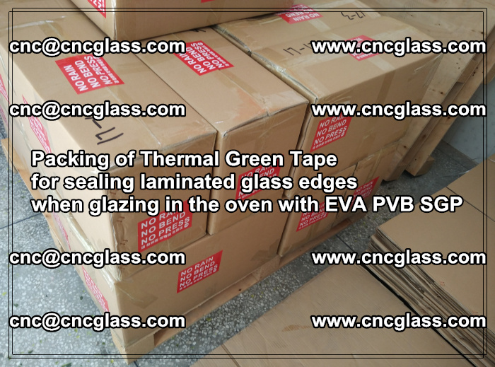 Packing of Thermal Green Tape for sealing laminated glass edges (64)