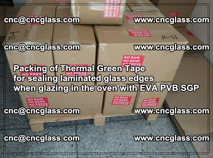Packing of Thermal Green Tape for sealing laminated glass edges (71)