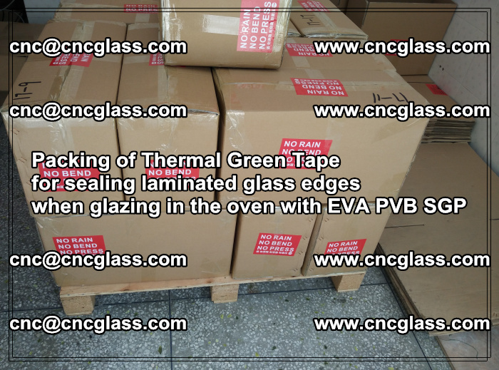 Packing of Thermal Green Tape for sealing laminated glass edges (74)