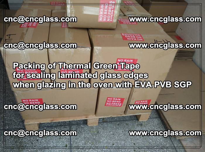 Packing of Thermal Green Tape for sealing laminated glass edges (75)