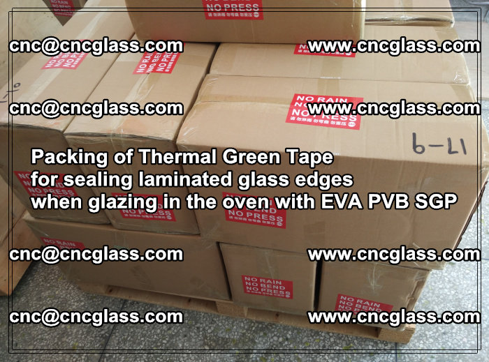 Packing of Thermal Green Tape for sealing laminated glass edges (77)