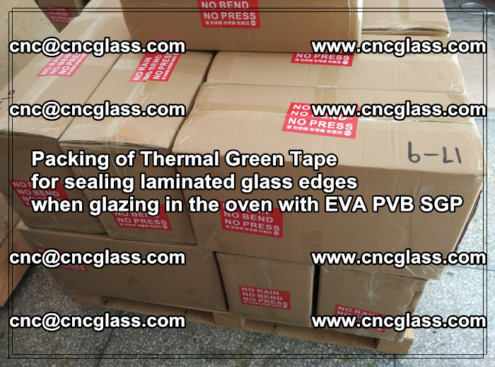 Packing of Thermal Green Tape for sealing laminated glass edges (78)