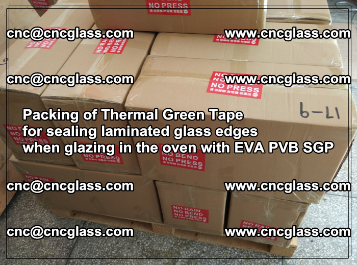 Packing of Thermal Green Tape for sealing laminated glass edges (84)