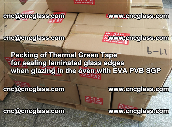 Packing of Thermal Green Tape for sealing laminated glass edges (86)