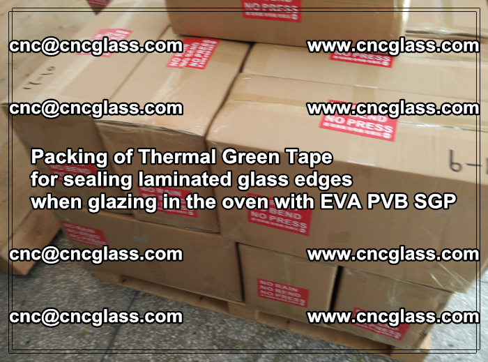 Packing of Thermal Green Tape for sealing laminated glass edges (87)