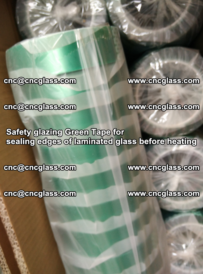 Safety glazing Green Tape for seal edges of laminated glass before heating (53)