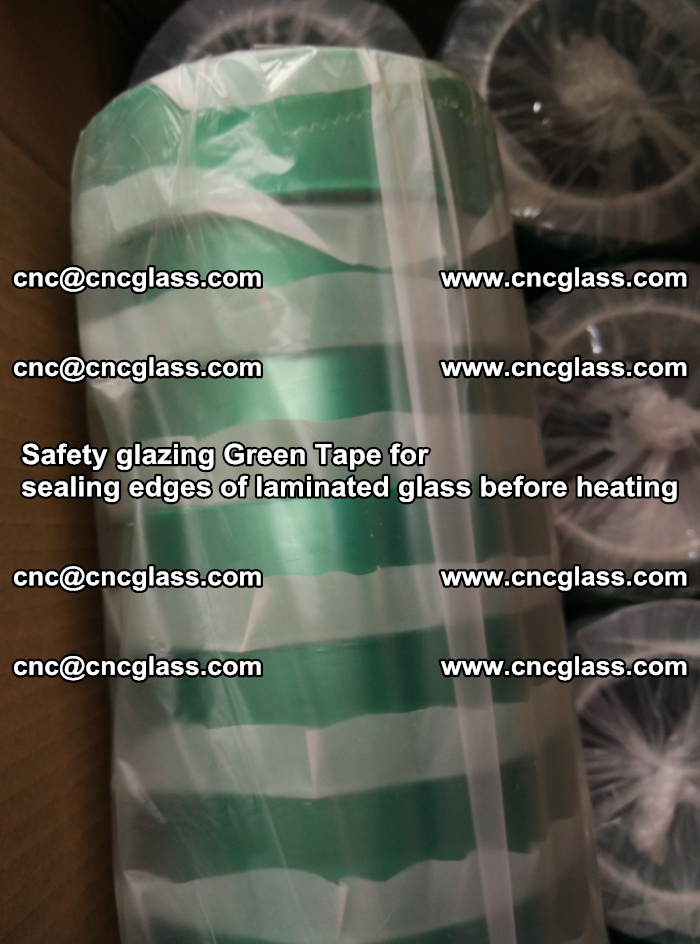 Safety glazing Green Tape for seal edges of laminated glass before heating (66)