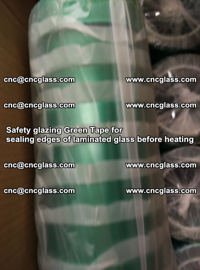 Safety glazing Green Tape for seal edges of laminated glass before heating (68)