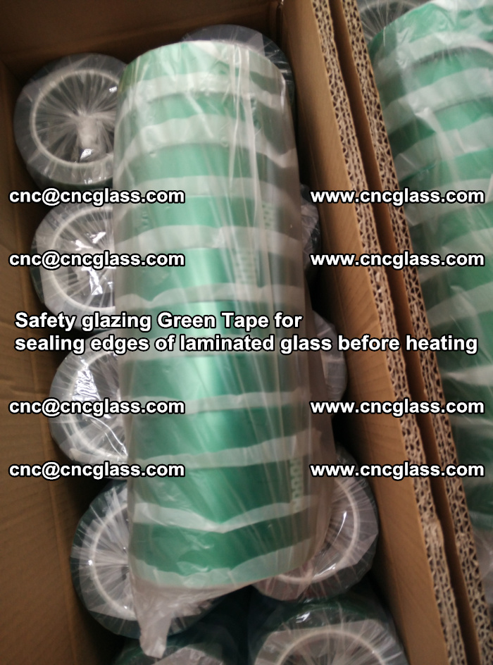 Safety glazing Green Tape for seal edges of laminated glass before heating (73)