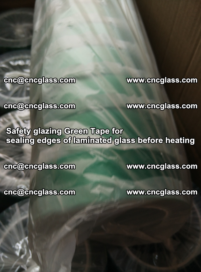 Safety glazing Green Tape for seal edges of laminated glass before heating (85)