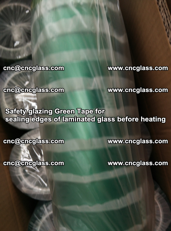 Safety glazing Green Tape for seal edges of laminated glass before heating (88)