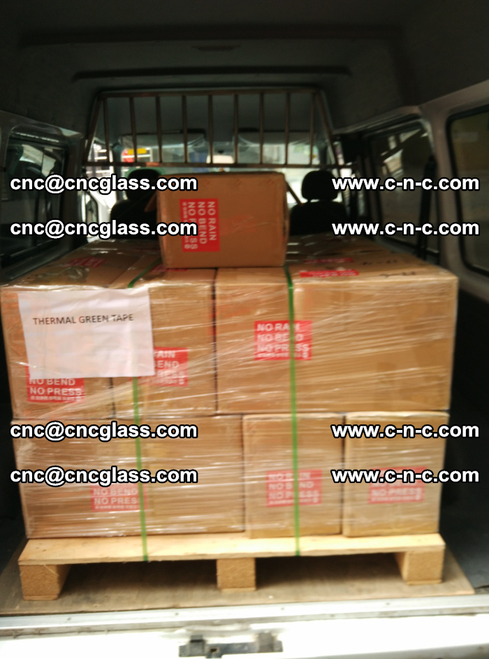 Safety glazing green thermal tape Packing and loading (10)