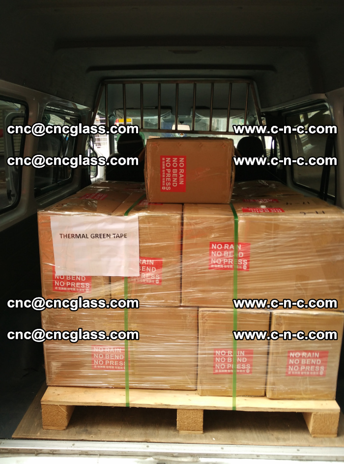 Safety glazing green thermal tape Packing and loading (7)