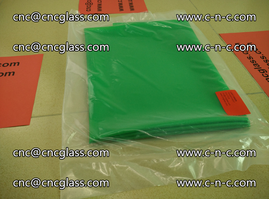 EVA glass interlayer film transparent color LIGHT green (2)