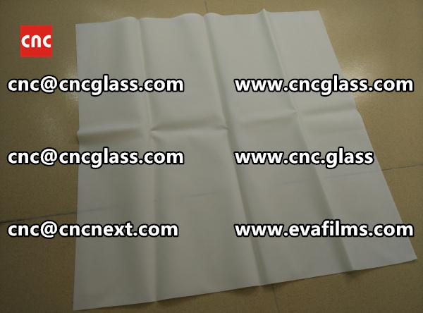 Laminated safety glass EVA-based densely cross-linked interlayer (14)
