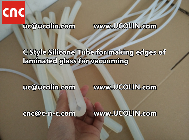 C Style Silicone Tube for making edges of laminated glass for vacuuming (11)