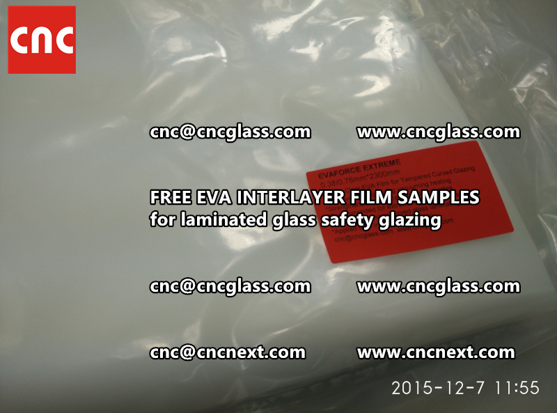 CROSS LINKED EVA INTERLAYER samples for safety glass laminated (10)