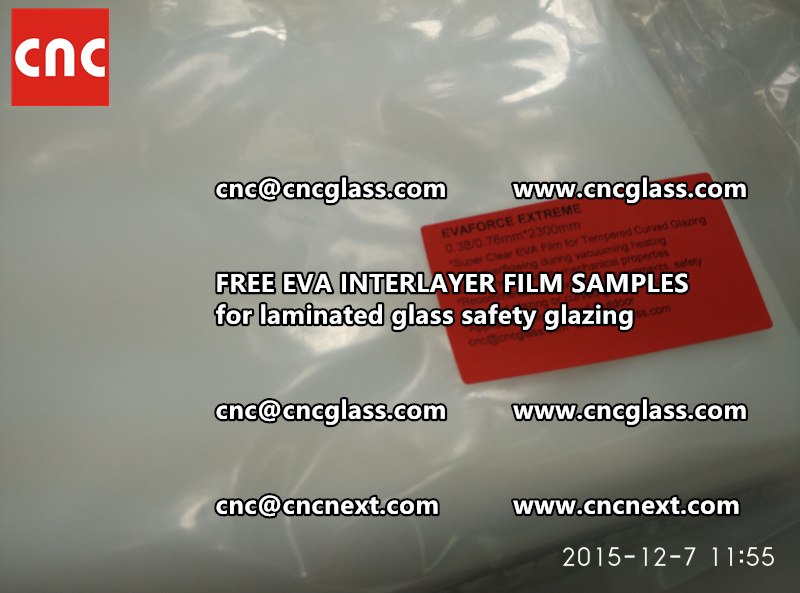 CROSS LINKED EVA INTERLAYER samples for safety glass laminated (12)